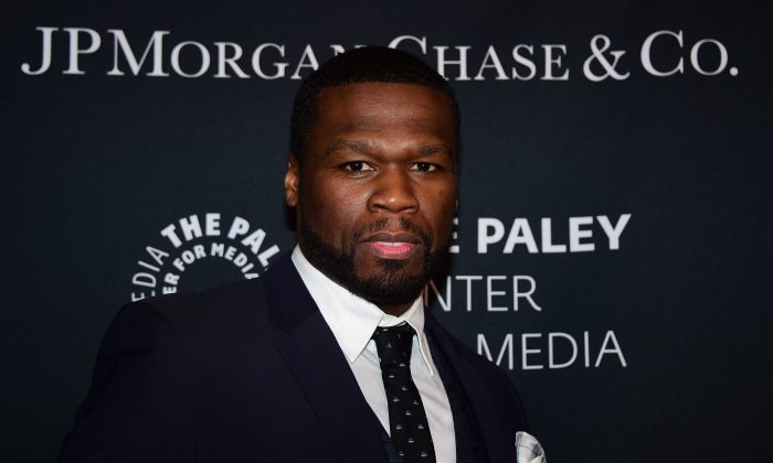 """Curtis """"50 Cent"""" Jackson arrives at The Paley Center For Media's Hollywood Tribute to African American Achievements in Television on October 26, 2015 in Beverly Hills, California. AFP PHOTO / FREDERIC J. BROWN        (Photo credit should read FREDERIC J. BROWN/AFP/Getty Images)"""