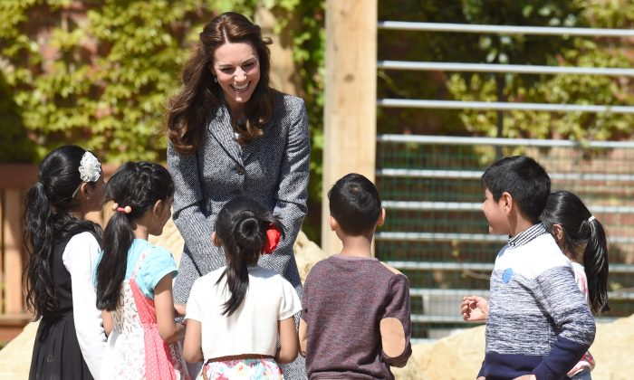 LONDON, ENGLAND - MAY 04:  Catherine, Duchess Of Cambridge officially opens The Magic Garden At Hampton Court Palace on May 4, 2016 in London, England.  (Photo by Stuart C. Wilson/Getty Images)