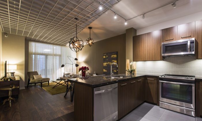 Trinity Ravine model home living space. (Arthur Mola)