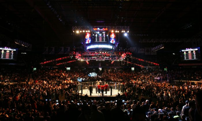 People attend the UFC 90 at UFC's Ultimate Fight Night at Allstate Arena on October 25, 2008 in Chicago, Illinois. (Tasos Katopodis/Getty Images)