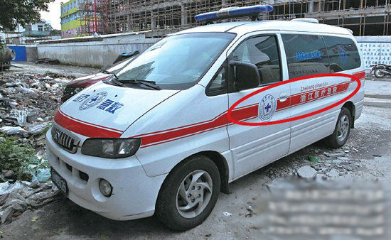 An unofficial vehicle with fake marking. (Sohu)