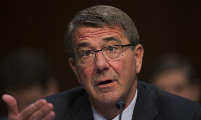 Defense Secretary Ash Carter testifies on Capitol Hill in Washington, D.C., on April 28, 2016. (AP Photo/Evan Vucci)