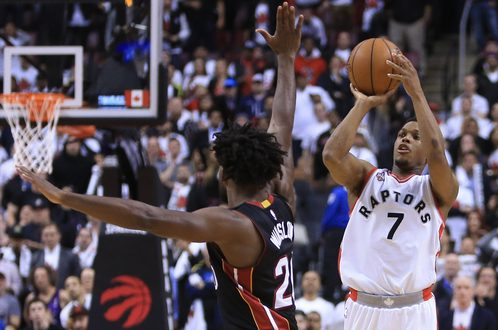 Kyle Lowry: Toronto Raptors Point Guard Forces Overtime Against Miami Heat With Half-Court Shot