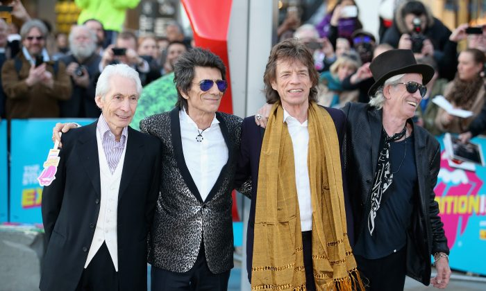Charlie Watts, Ronnie Wood, Mick Jagger and Keith Richards of The Rolling Stones. (Photo by Chris Jackson/Getty Images)