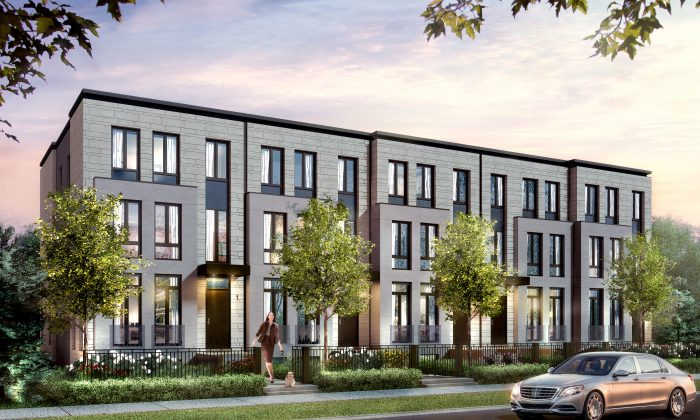 Rendering of contemporary architectural style homes by Estates on Bayview. (Courtesy of Estates on Bayview)