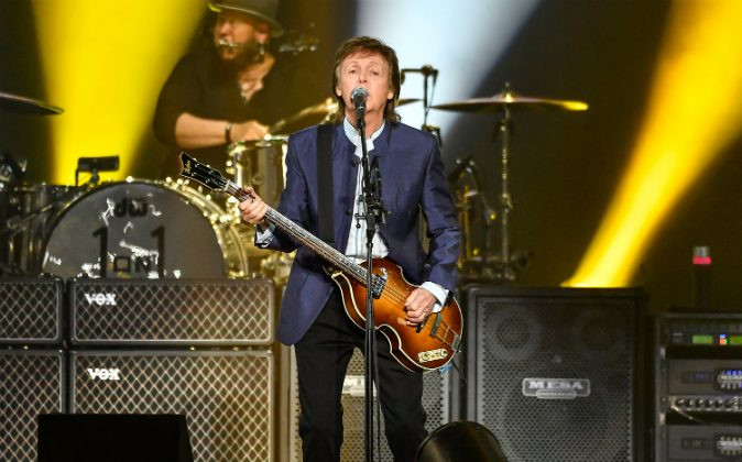 Paul McCartney performs on Opening Night of the One On One Tour at Save Mart Center on April 13, 2016 in Fresno, California. (Photo by Steve Jennings/Getty Images)