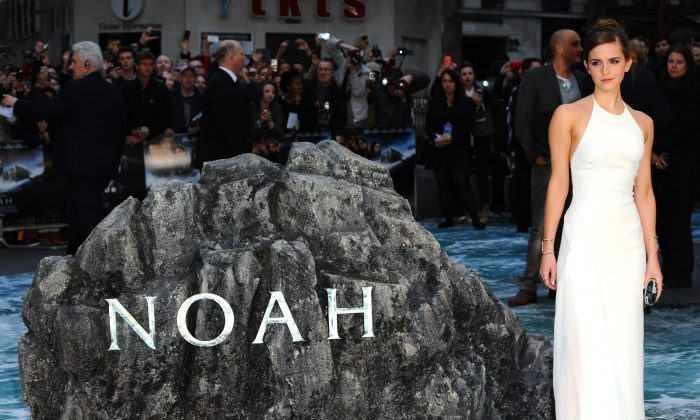 """Emma Watson attends the UK premiere of """"Noah"""" at Odeon Leicester Square on March 31, 2014 in London, England.  (Anthony Harvey/Getty Images)"""