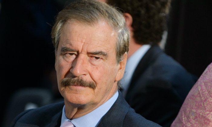 Former Mexican preisdent Vicente Fox is seen before the start of the Congressional Gold Medal presentation ceremony for Bangladeshi economist Muhammad Yunus on April 17, 2013 in the Rotunda of the US Capitol in Washington, DC. (Mandel NGAN/AFP/Getty Images)
