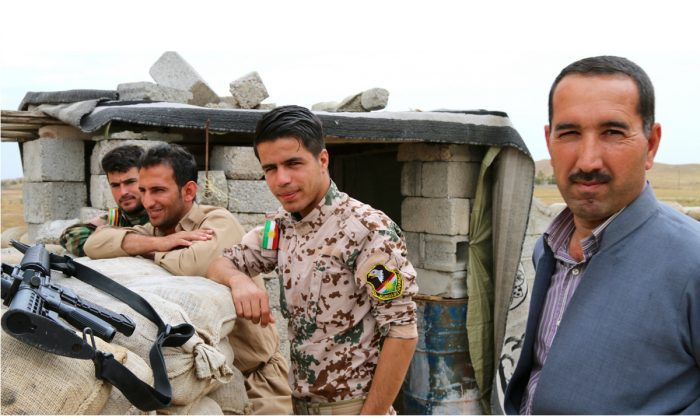 Despite two years of constant combat, and a Spartan way of living, morale among the peshmerga soldiers appears high. (Nolan Peterson/The Daily Signal)