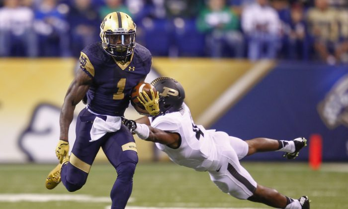 Greg Bryant (L) played his first two seasons at Notre Dame before transferring to UAB. (Michael Hickey/Getty Images)