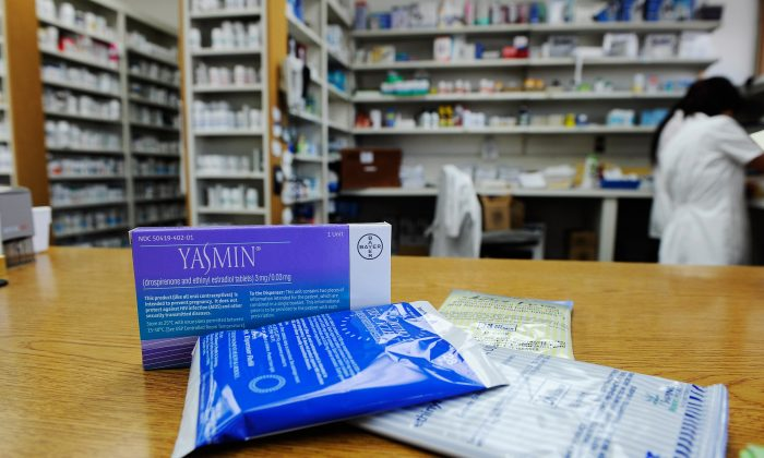 Prescription contraceptives for women sit on the counter of a drug store in Los Angeles, Calif., on Aug. 1, 2011. (Kevork Djansezian/Getty Images)