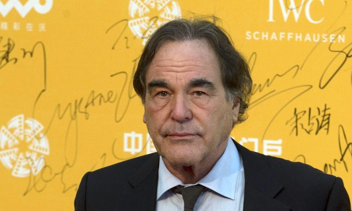 Director Oliver Stone at the 4th Beijing International Film Festival held in Beijing, China, on April 16, 2014. (AP Photo/Ng Han Guan)