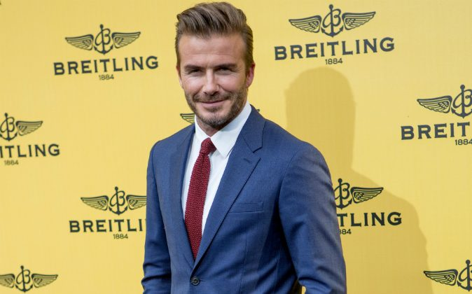 David Beckham attends the opening event of the Breitling Boutique in Madrid, Spain, on June 3, 2015 . (Pablo Cuadra/Getty Images)