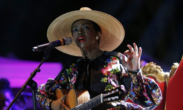 US singer Lauryn Hill performs on stage during the Nice's Jazz Festival on July 9, 2015 in Nice, southeastern France.  (VALERY HACHE/AFP/Getty Images)