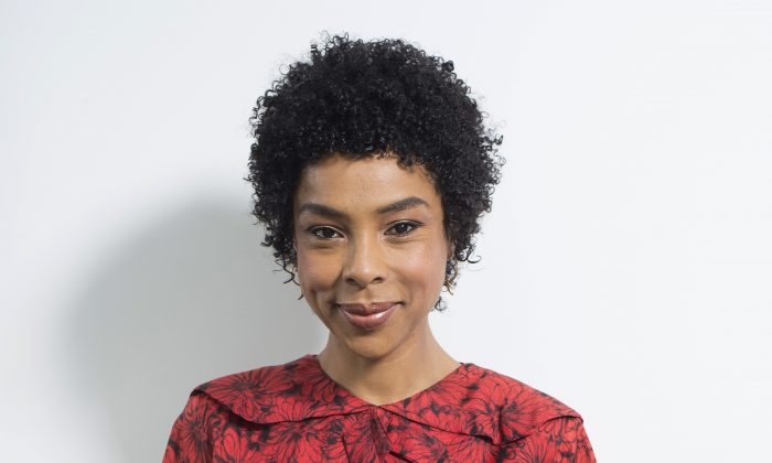 """In this April 26, 2016 photo, actress Sophie Okonedo, who is starring in the Broadway revival of """"The Crucible,"""" poses for a portrait in New York. Okonedo was nominated for a Tony Award for her role in the production. (Photo by Scott Gries/Invision/AP)"""