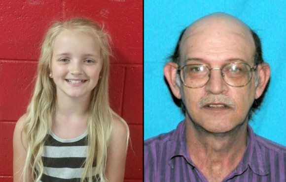 9-year-old Carlie Trent has been missing since May 4; she was taken out of school early by her uncle, Gary Simpson. (Photos courtesy of the Tennessee Bureau of Investigation)