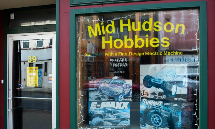 Entrance to Mid Hudson Hobbies in Middletown on May 10, 2016. (Yvonne Marcotte/Epoch Times)
