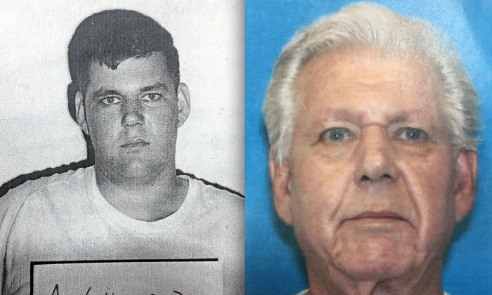 Mugshots of Robert Stackowitz in 1966 and 2016 respectively. (Georgia Department of Corrections via AP)