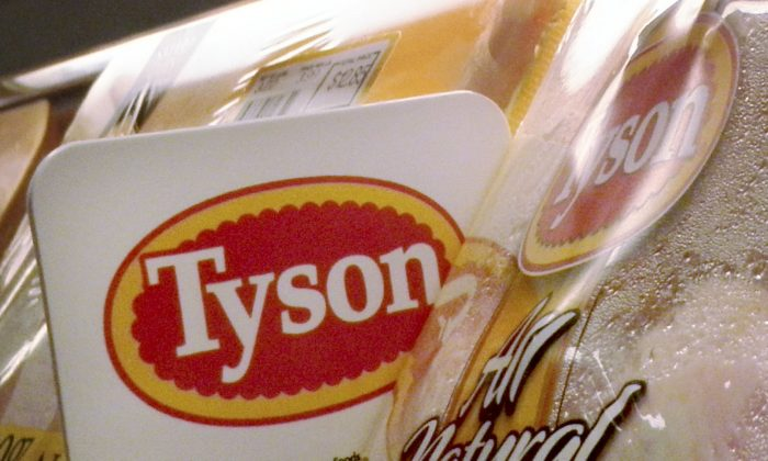 Tyson Foods chicken products on the shelves of a Little Rock, Ark., in a file photo. (Danny Johnston, file/AP Photo)