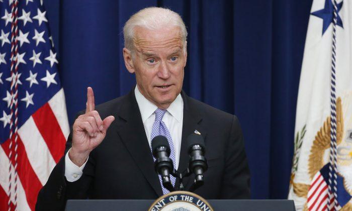 Vice President Joe Biden speaks at the Eisenhower Executive Office Building in Washington, D.C., on April 14, 2016. (Mark Wilson/Getty Images)