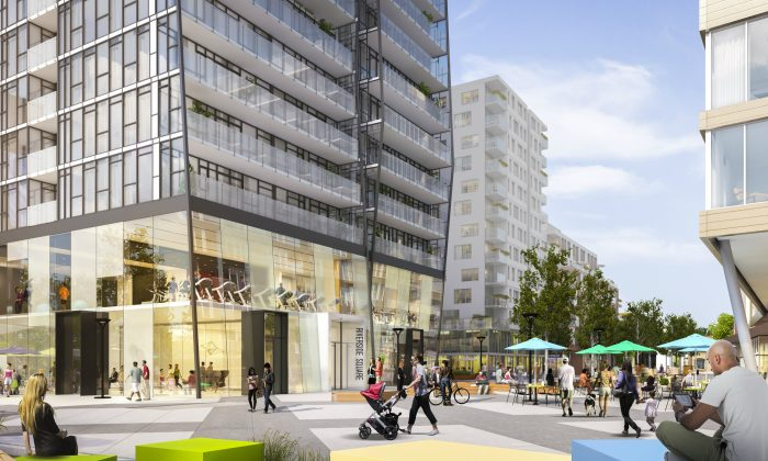 Riverside Square, a mixed-use development by Streetcar Developments ( Courtesy of Streetcar Developments)