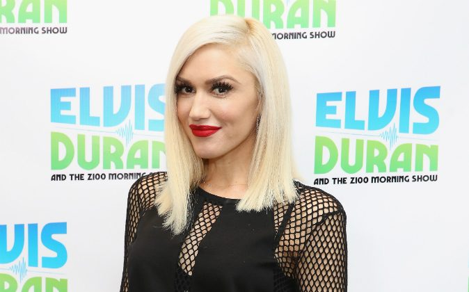Gwen Stefani Visits 'The Elvis Duran Z100 Morning Show' at Z100 Studio in New York City, on Dec. 3, 2015. (Photo by Robin Marchant/Getty Images)
