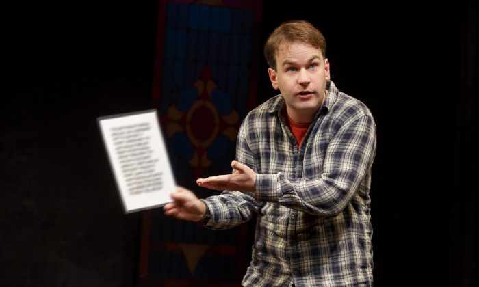 """Mike Birbiglia's one-person effort, """"Thank God for Jokes,"""" is running at the Lynn Redgrave Theater. (Joan Marcus)"""