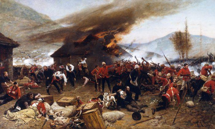 The Defense of Rorke's Drift. (Alphonse-Marie-Adolphe de Neuville, Public Domain)