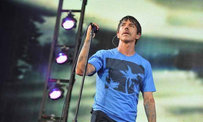 Anthony Kiedis of Red Hot Chili Peppers performs during the 2013 Orion Music + More Festival at Belle Isle Park on June 8, 2013 in Detroit, Michigan.  (Theo Wargo/Getty Images)