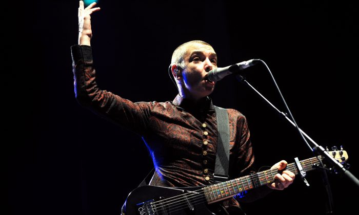Irish singer Sinead O'Connor performs on August 11, 2013 in Lorient, western of France during the Inter-Celtic Festival of Lorient. (Fred Tanneau/AFP/Getty Images)