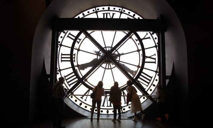 A clock at the Orsay Museum in Paris, France, on April 19, 2016. (Thierry Chesnot/Getty Images)