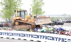 Video: New York City Crushes Illegal Motorbikes, ATVs With Bulldozer