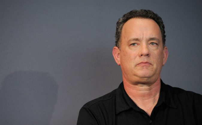 Actor/director Tom Hanks speaks during a visit to the Apple Store Soho on June 29, 2011 in New York City. (Jemal Countess/Getty Images)