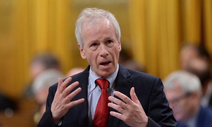 Foreign Affairs Minister Stephane Dion responds to a question in the House of Commons on May 3, 2016. (The Canadian Press/Sean Kilpatrick)