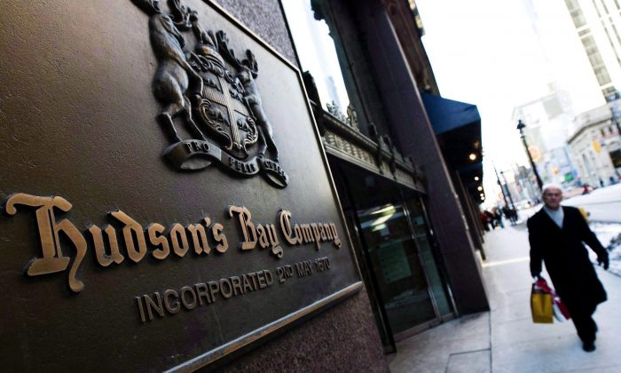 The flagship Hudson's Bay Company store in downtown Toronto. A plan to open up to 20 stores in the Netherlands marks the first time the Bay has introduced its namesake brand outside of Canada. (The Canadian Press/Nathan Denette)