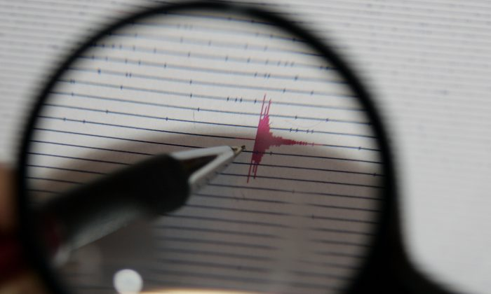 A seismogram at the earthquake center in Freiburg, southern Germany, on March 22, 2007. (AP Photo/Winfried Rothermel)