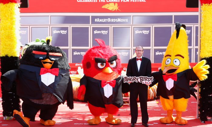 """CANNES, FRANCE - MAY 10:  Producer John Cohen attends """"The Angry Birds Movie"""" Photocall during the annual 69th Cannes Film Festival at JW Marriott on May 10, 2016 in Cannes, France.  (Photo by Luca Teuchmann/Getty Images)"""