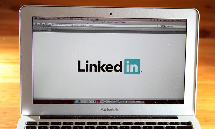 In this photo illustration, the LinkedIn logo is displayed on the screen of a laptop computer on January 27, 2011 in San Anselmo, California. (Photo Illustration by Justin Sullivan/Getty Images)