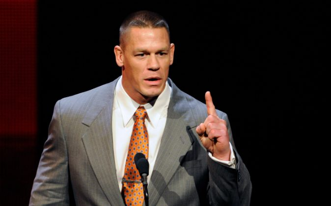 WWE wrestler John Cena speaks at a news conference announcing the WWE Network at the 2014 International CES at the Encore Theater at Wynn Las Vegas on January 8, 2014 in Las Vegas, Nevada. (Ethan Miller/Getty Images)