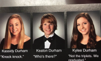 Triplets Use Yearbook for Clever 'Knock Knock' Joke