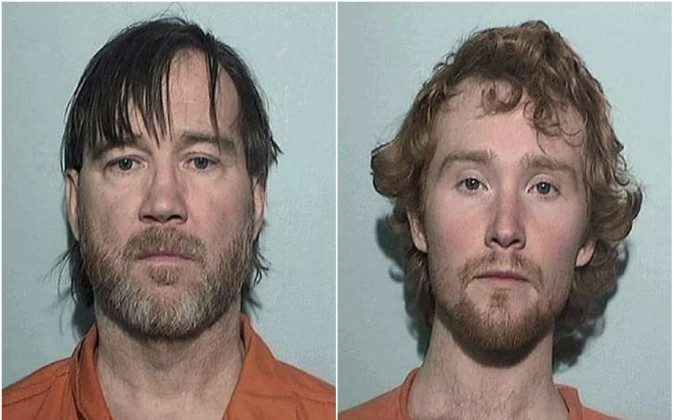 Timothy Ciboro, 53, and his son Esten, 27, have been arrested facing a number of charges after a 13-year-old girl alleges she was shackled in their basement for over a year. (Lucas County Jail photo)