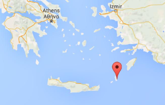 Karpathos Island, Greece. (Screenshot of Google Maps)