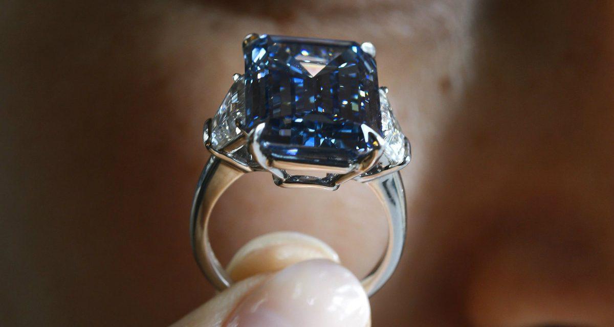 Photos: Rare 'Oppenheimer Blue' Diamond Sells for Record Price—$57.6 Million