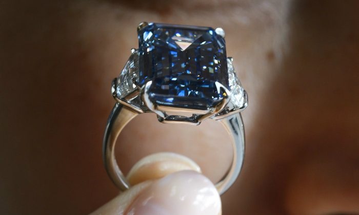 Photos Rare Oppenheimer Blue Diamond Sells For Record Price