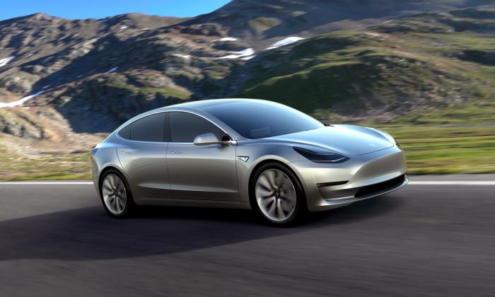 Tesla 3 Model (Courtesy of Tesla)