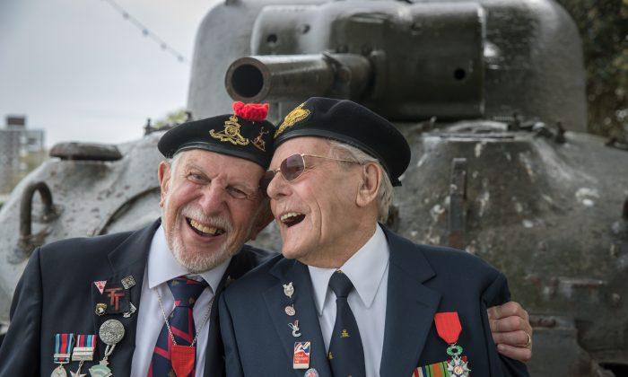 World War II veterans on May 20, 2016. (Matt Cardy/Getty Images)