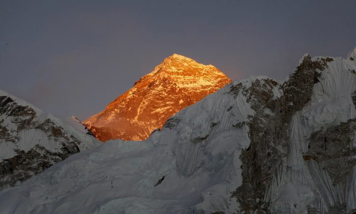 Mt. Everest is seen from the way to Kalapatthar in Nepal. A 35-year-old Dutch man suffering from high-altitude sickness died on his way back from Mount Everest's summit in the first death reported this year on the world's highest mountain, an expedition organizer said Saturday, May 21, 2016. (AP Photo/Tashi Sherpa, File)