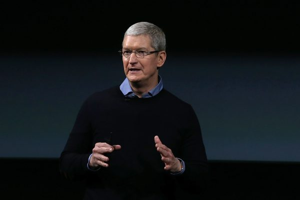 Apple CEO Tim Cook speaks during an Apple special event at Apple headquarters in Cupertino, Calif., on March 21, 2016. (Justin Sullivan/Getty Images)