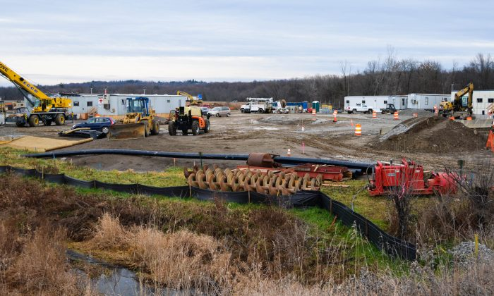 Construction on the site of the CPV Energy Project in Wawayanda on Dec. 1, 2015. (Yvonne Marcotte/Epoch Times)