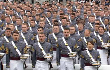 '16 graduates of West Point at commencement ceremonies on May 21, 2016. (courtesy West Point)